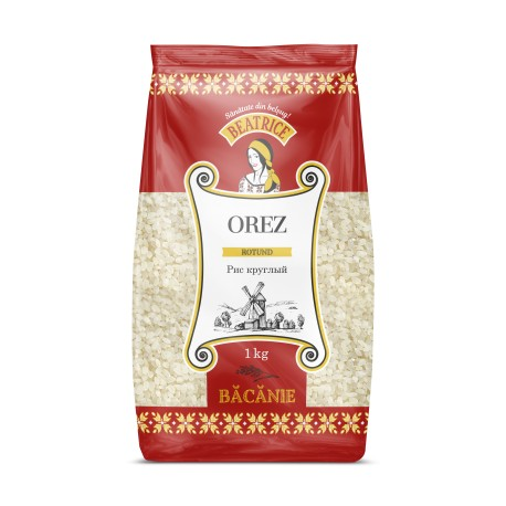 Polished semi-milled rice with medium grain 1kg